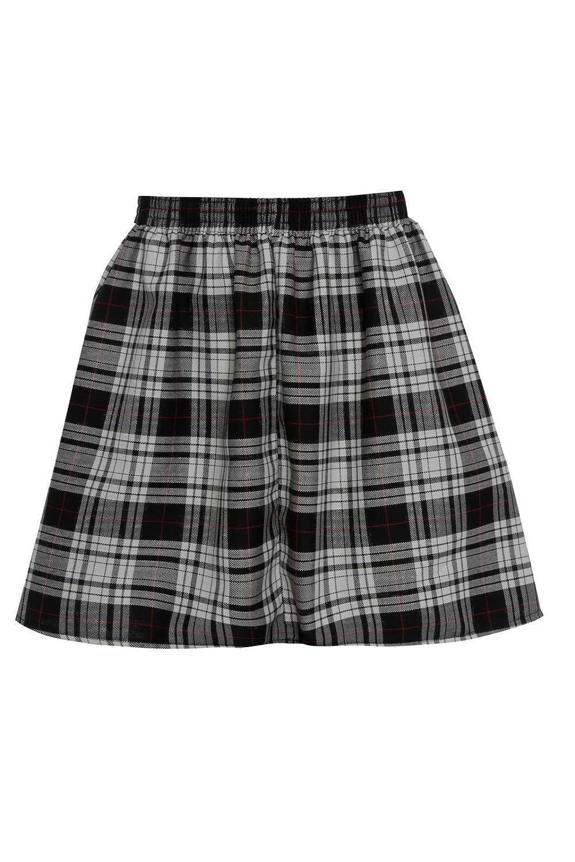6273b6cf75b8a Miss Skinny New Womens RED Black Ladies Tartan Skater Mini Skirt  Elasticated Waist Size 8-20  Amazon.co.uk  Clothing