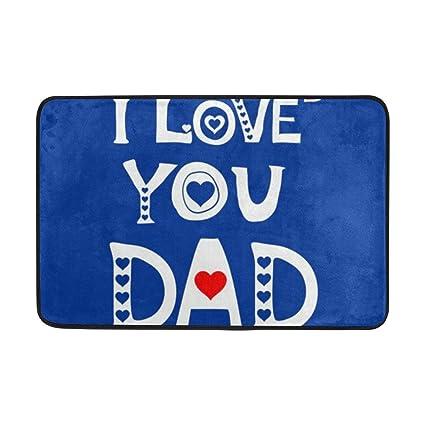 Amazon com : Koperororo Love You Dad Father Day Birthday Doormats