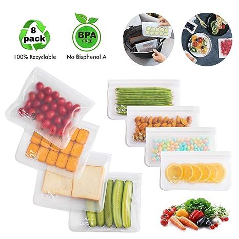 Bolsa de sándwich reutilizable, 8 paquetes (4 bolsas de ...