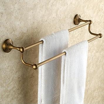 Retro Doppelschichten aus Messing Badezimmer Handtuchhalter ...