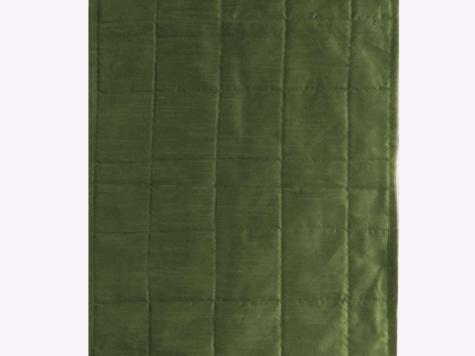 Quilted Bed Runner - Olive Green Bed Scarf Long Side Runner Throw King/Queen/Twin Size with Decorative Cushion Cover Polyester 20'' Wide X 102'' Long (50 cm x 300 cm)