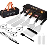 APOPTEX Griddle Accessories Set for Blackstone and Camp Chef,15-Piece Professional Stainless Steel Flat Top Grill Accessories