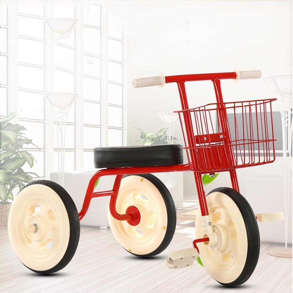 Triciclos para niños Bicicletas Ligero, simple, interior, exterior, 1-5 años, viejo, acero al carbono, rojo, bicicleta