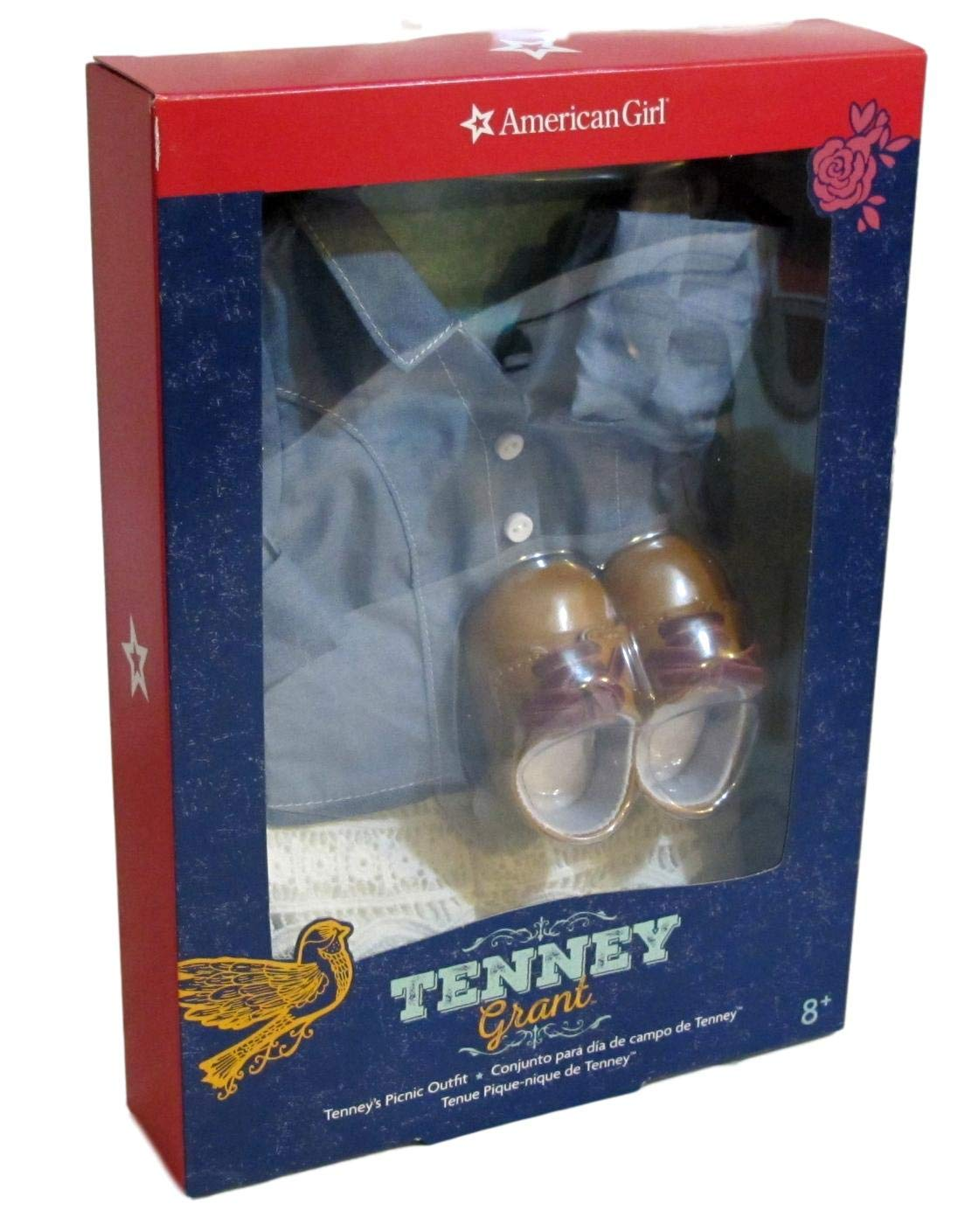 American Girl Tenney/'s Gingham Pajamas for 18-inch Dolls