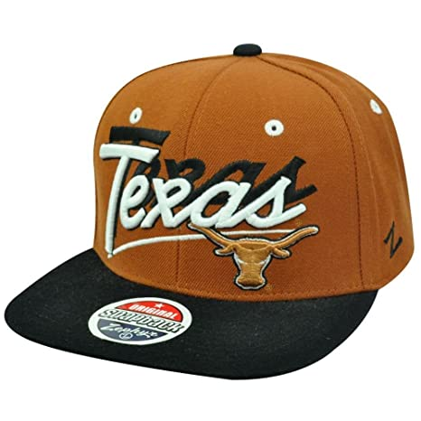 sports shoes f1dbd f498a Image Unavailable. Image not available for. Color  Texas Longhorns Adult  Snapback One Size Fits Most 2 Tone NCAA Authentic Snap Back Hat Cap