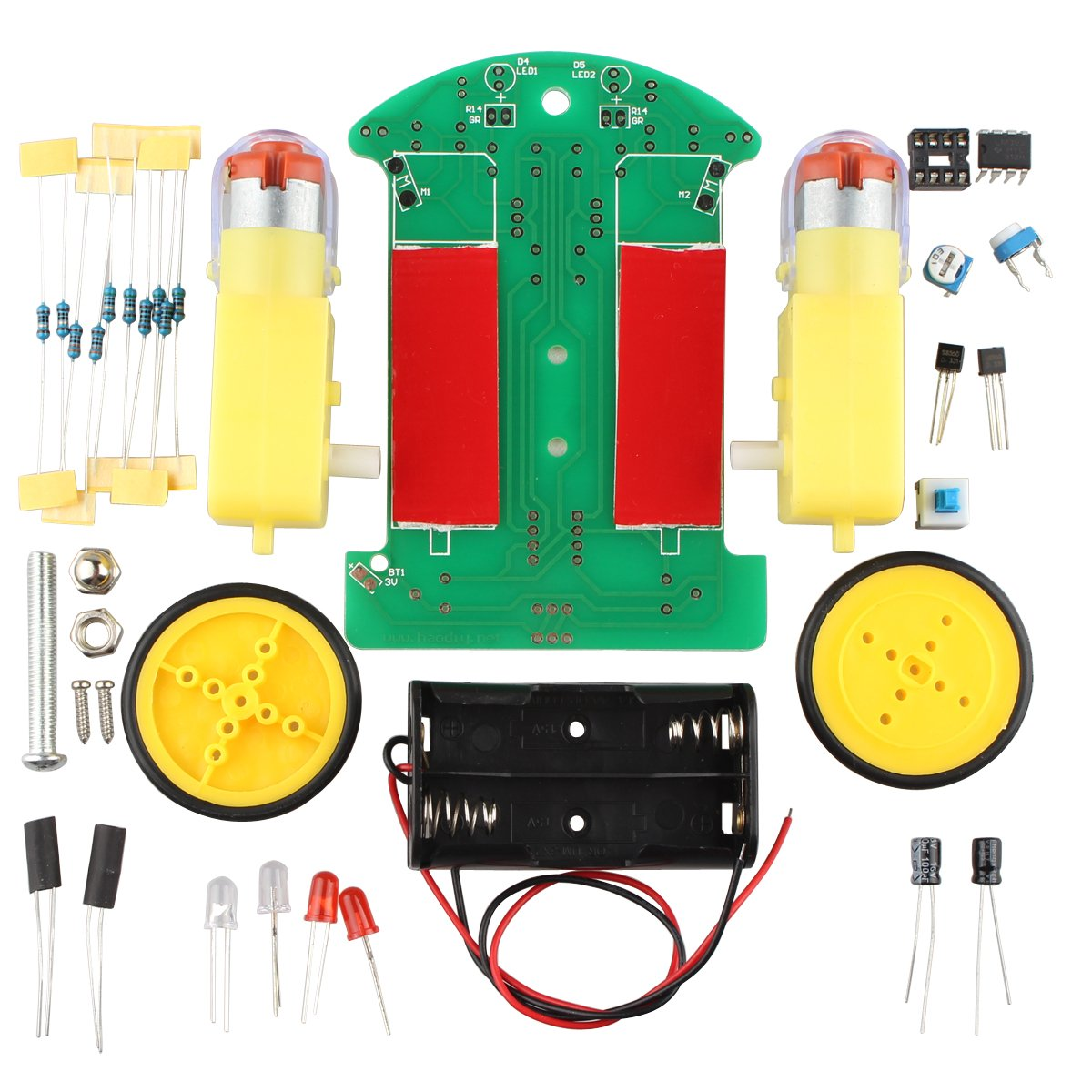 Haljia Tracking Robot Car Electronic Diy Kit With Gear Motor Amazon 4x4x4 Led Cube Schematic Light Strip Lighting Wiring Diagram Computers Accessories
