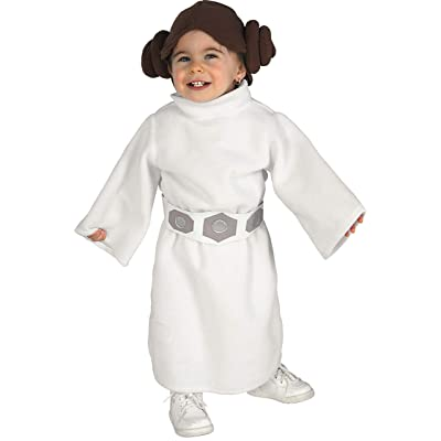 Rubie's Costume Star Wars Princess Leia Romper, White, 6-12 Months: Clothing