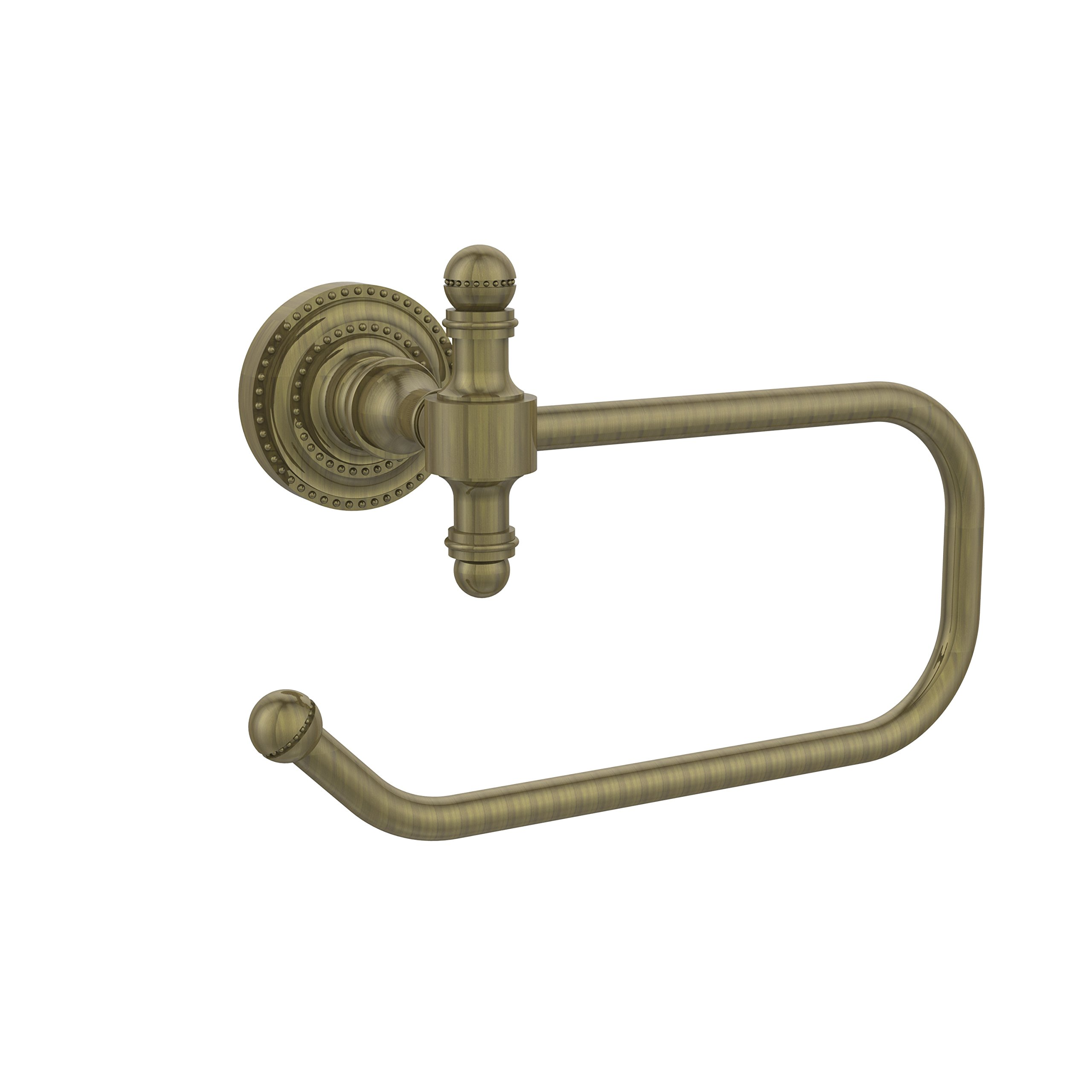 Allied Brass RD-24E-ABR Retro Dot Collection Euro Tissue Holder, Antique Brass
