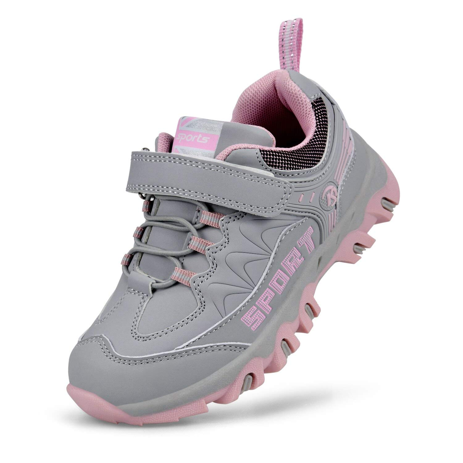 MARSVOVO Girls Red Shoes Outdoor Waterproof Hiking Shoes Running Shoes Grey/Pink 9 Todder by MARSVOVO