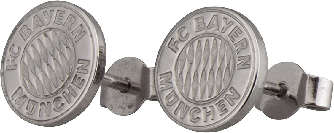 Ohrringe Bayern M/ünchen Creolen Damen Ohrschmuck FCB