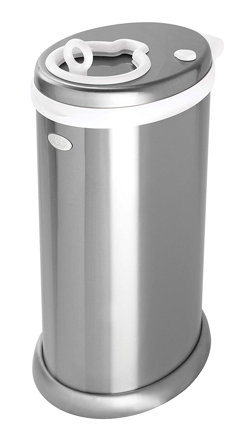 Ubbi Steel Odor Locking, No Special Bag Required, Money Saving, Modern Design, Registry Must-Have Diaper Pail, Chrome