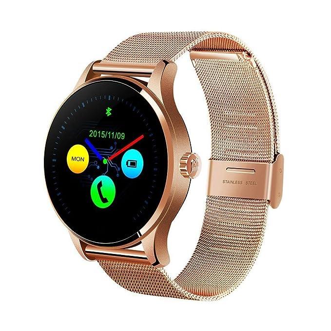 vapiyo k88h Bluetooth Smart Reloj, Banda de Acero Inoxidable ...