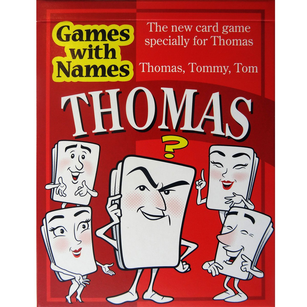 THOMAS'S GAME: Fun boys birthday gift idea for boys called THOMAS, TOMMY and TOM (also makes a great secret santa item or stocking stuffer or Christmas present!).