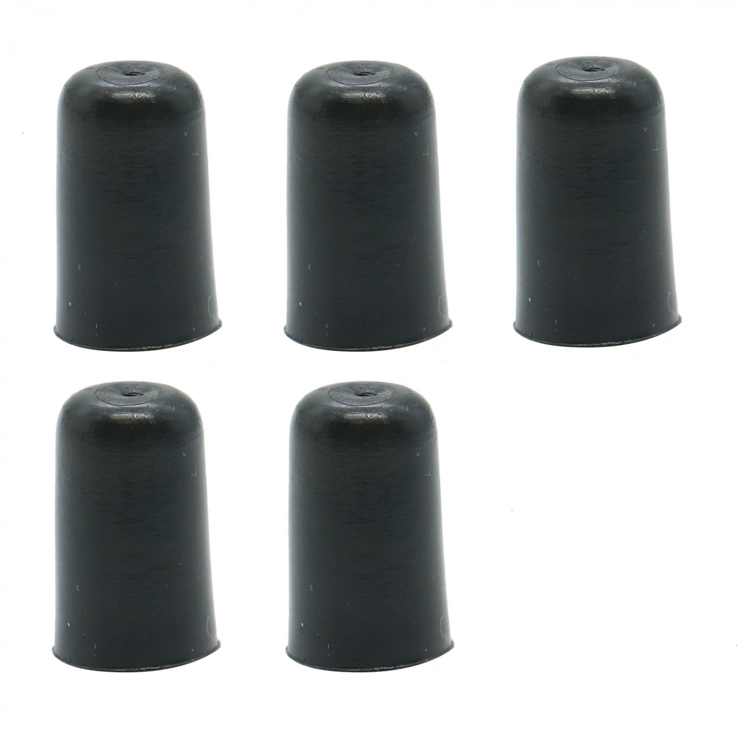 Buorsa Black Rubber Tip for Cello Endpin, Set of 5
