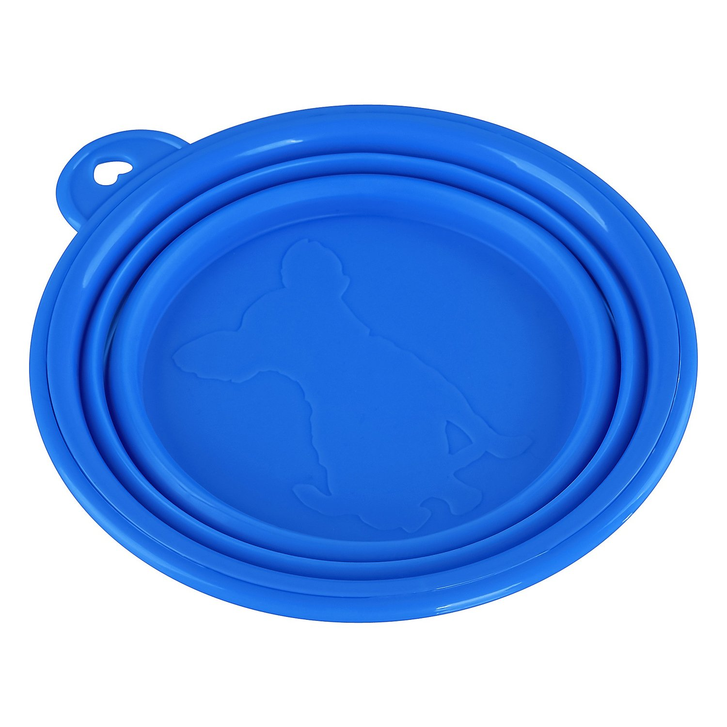 Generic Pet Portable Silicone Collapsible Travel Feeding Bowl Water Dish Feeder Color Blue