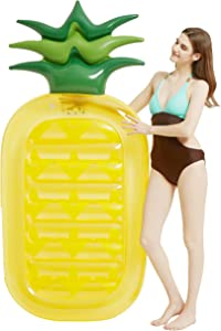 Kurala Inflatable Pineapple Pool Float, Summer Water Toy for Kids Adults, 70 Inches Long