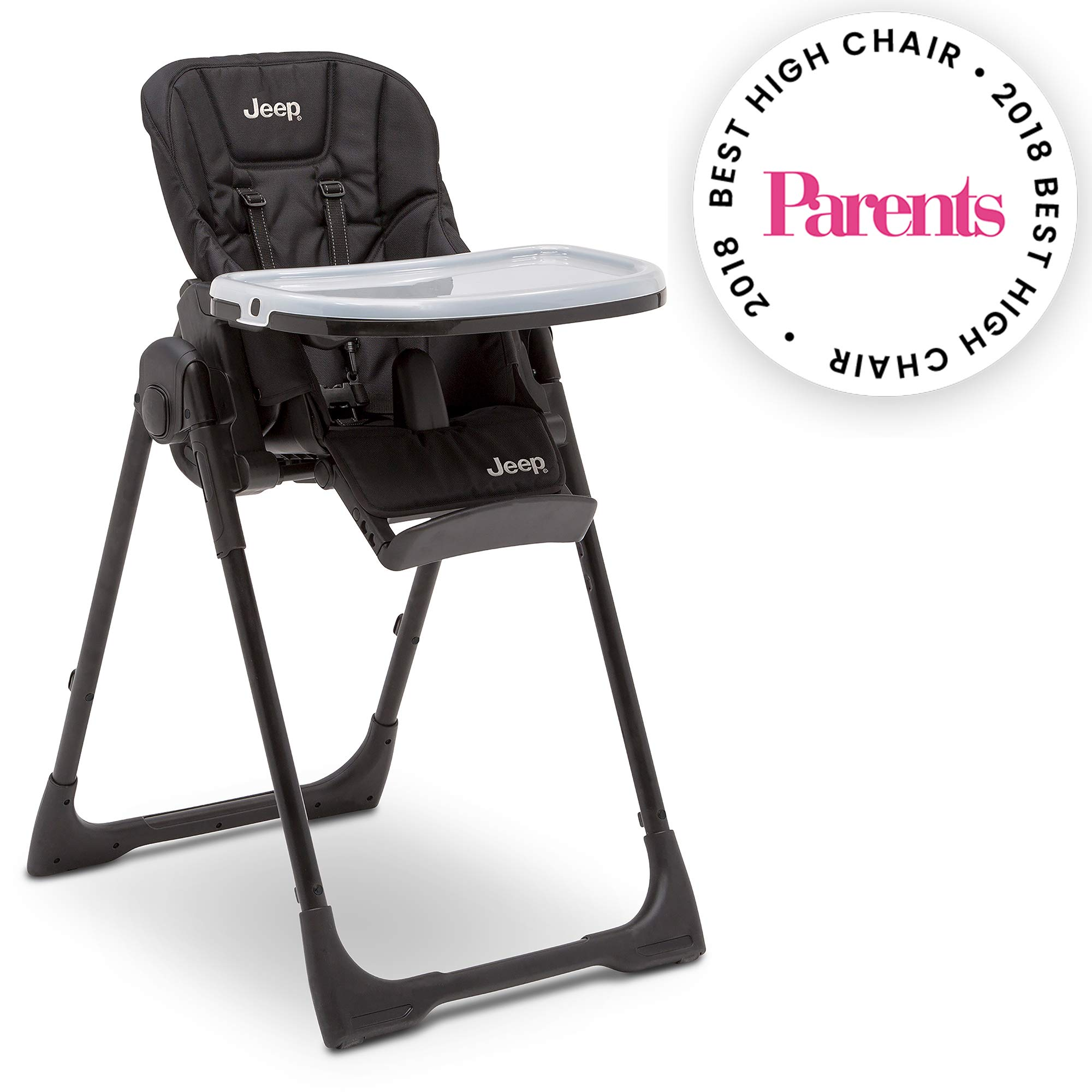 Jeep Classic Convertible High Chair for Babies and Toddlers, Midnight Black by Jeep