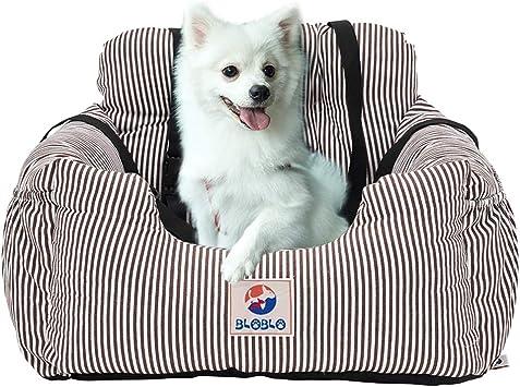 Bloblo Sitzerhöhung Für Hunde Für Kleine Bis Mittelgroße Hunde Mit Einem Gewicht Unter 16kg Mit Seitentasche Und Hundeleine Abnehmbarer Und Waschbarer Haustier Sitzbezug Hunde Auto Reisebett Kaffee Haustier