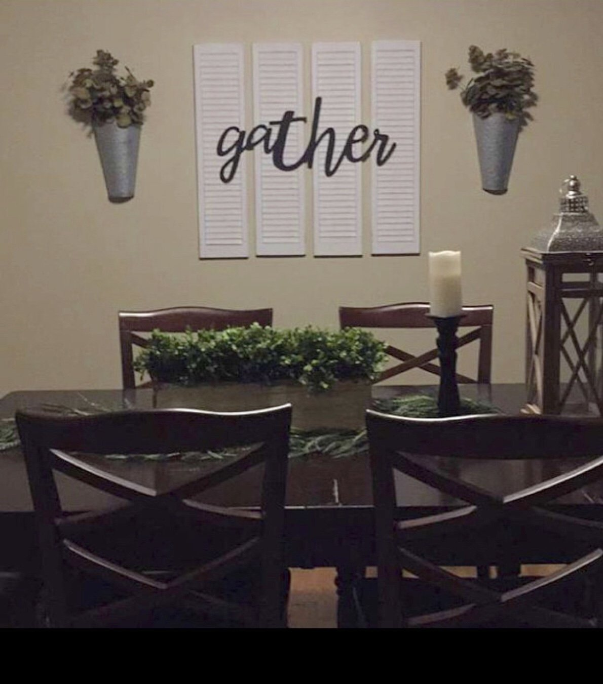 Shutters with Gather Sign 36''