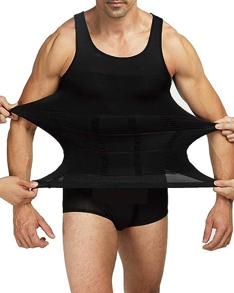 ab58a2638 Amazon.com  NOVECASA Men Slimming Body Shaper Vest Gynecomastia Shirt Tank  Top Compression Shirt Shapewear  Clothing