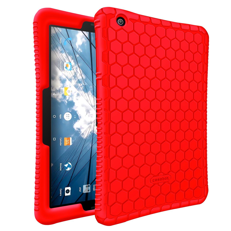 AT&T Primetime Case - Fintie [Honey Comb Series] Light Weight Shock Proof Silicone Protective Cover [Anti Slip] [Kids Friendly] for 2017 ATT Primetime/ZTE K92 Primetime 10'' Tablet, Red