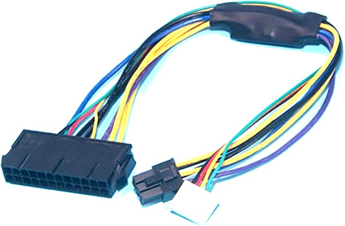 ATX 24pin to Motherboard 2-Port 6pin Adapter Power Supply Cable Cord for HP Z220 Z230