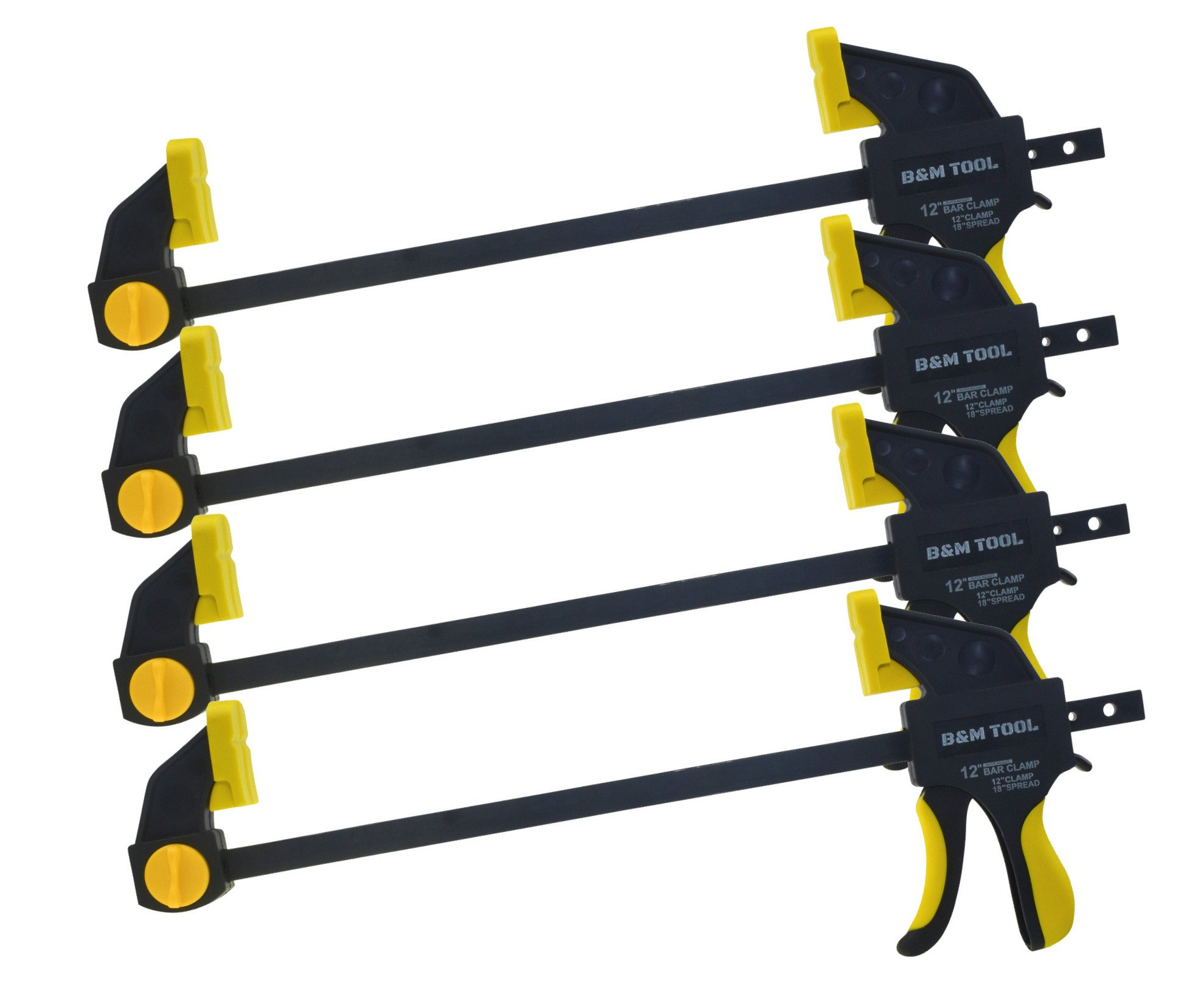 B&M TOOL Ratchet Bar Clamp and Spreader (12 Inch – 4 Pack)