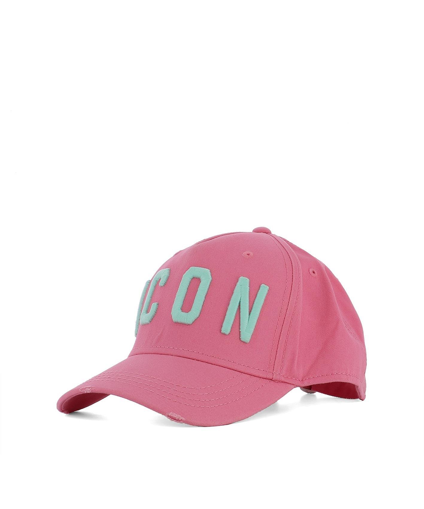 DSQUARED2 Men's Bcm400105c00001m1387 Pink Cotton Hat