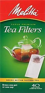 Melitta Loose Tea Filter, 40 Ct.