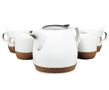 Moderne Teekanne tea branch hailey keramik set für 4 moderne teekanne 650