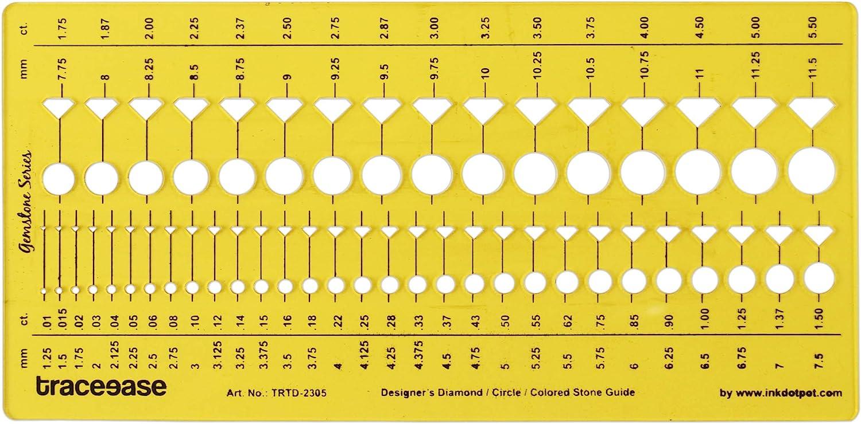 Traceease Plantillas De Joyería Del Diseñador De Diamantes De Piedras Preciosas De Guía Herramientas De Elaboración De Joyas Plantillas De Diseño
