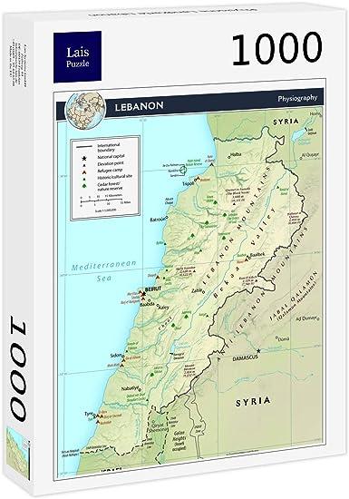 Cartina Fisica Del Libano.Lais Puzzle Mappa Fisica Del Libano 1000 Pezzi Amazon It Giochi E Giocattoli