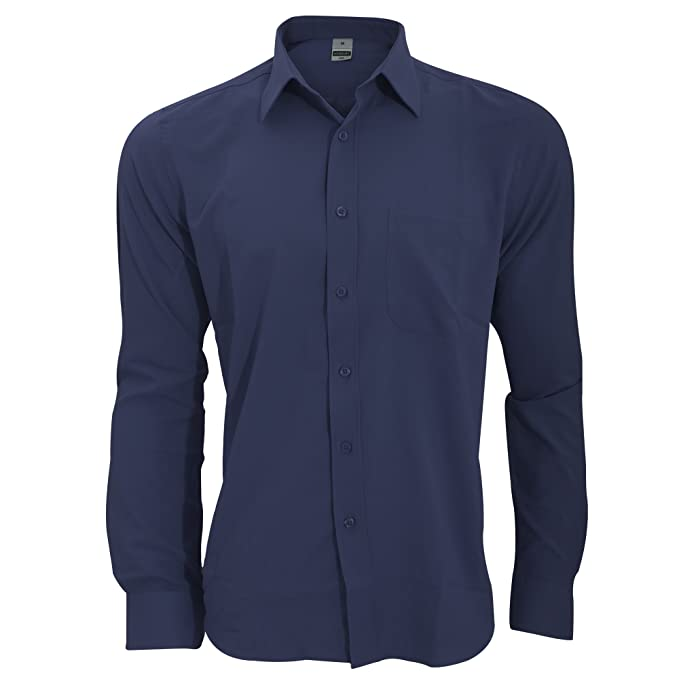 Henbury - Camisa Transpirable para Trabajar de Manga Larga accion  Anti-Bacterial Hombre Caballero - Trabajo Fiesta Verano  Amazon.es  Ropa y  accesorios 0d44350d8acfb