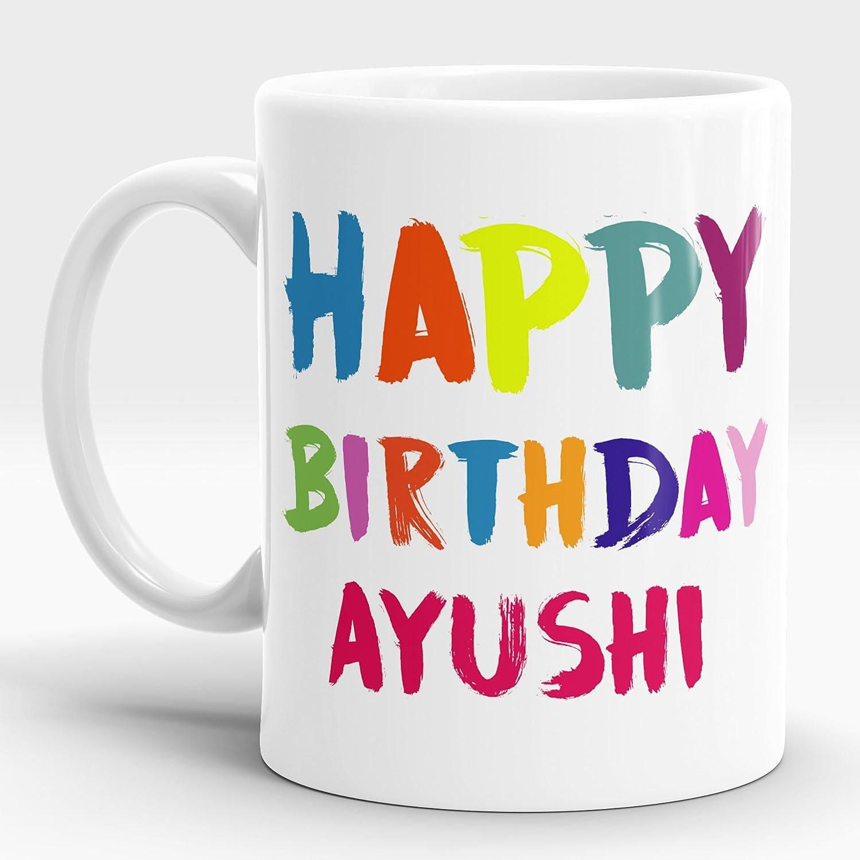 Amazon.com: lastwave Feliz cumpleaños regalo para Ayushi ...