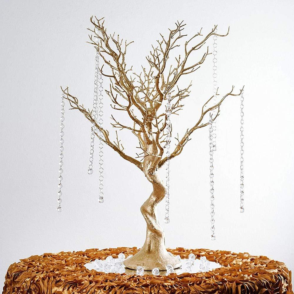 "Acmee Gold Manzanita Tree for Wedding Banquet Party Event Tabletop Centerpiece Decoration,30 ""Artificial Tree for Table Decoration Ornament Hanging"