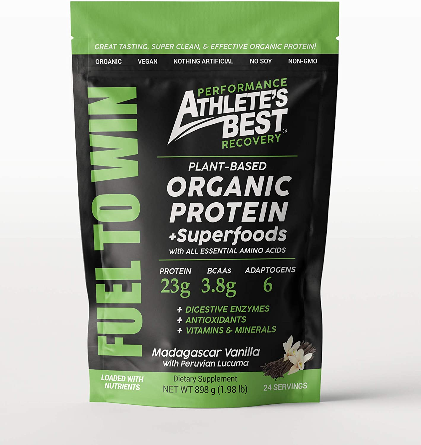 Athlete's Best® Organic Plant-Based Protein Powder with Adaptogens & Superfoods