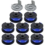 """LIYYOO 0.065"""" Autofeed String Trimmer Replacement Spool Line Compatible for Ryobi One+ AC14RL3A 18V, 24V,40V Cordless…"""