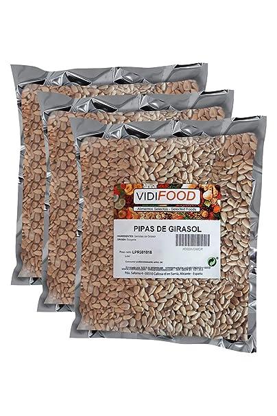 Semillas de Girasol - 3kg - Bocaditos crujientes pelados, listos ...