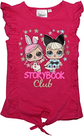 LOL SURPRISE - Camiseta de Manga Corta para niñas Rosa Rosa 6-7 Años: Amazon.es: Ropa y accesorios