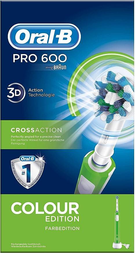 Oral-B PRO 600 CrossAction Spazzolino elettrico ricaricabile alimentato da Braun