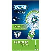 Oral-B PRO 600 CrossAction - Cepillo de dientes eléctrico recargable, con tecnología Braun, edición Green