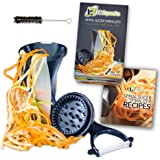 Life Dynamics Spiral Slicer, Zucchini Pasta Maker, Vegetable Slicer, HandHeld Black