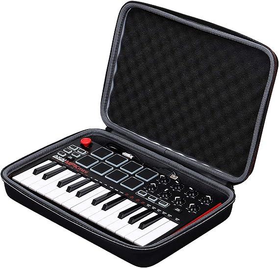 XANAD Estuche rígido de viaje para AKAI Professional MPK Mini MKII Teclado USB portátil de 25 teclas portátil: Amazon.es: Instrumentos musicales
