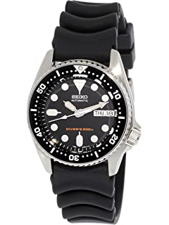 39d63467a22f Amazon.com  Seiko Men s Automatic Analogue Watch with Rubber Strap ...