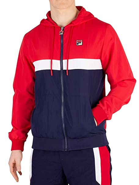 Fila Mens Ambrose Colour Block Jacket, Blue at Amazon Mens ...