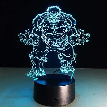 Nuevo Gigante Colorido 3D Luces Visión Lámparas de mesa estéreo ...