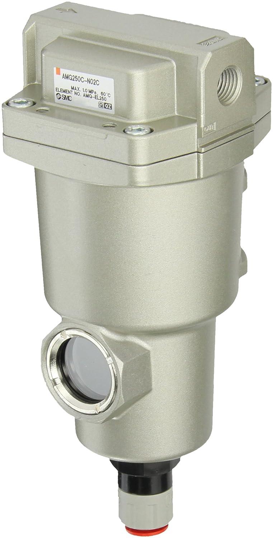 SMC AMG250C-N02C Water Separator, N.C. Auto Drain, 750 L/min, 1/4' NPT 1/4 NPT