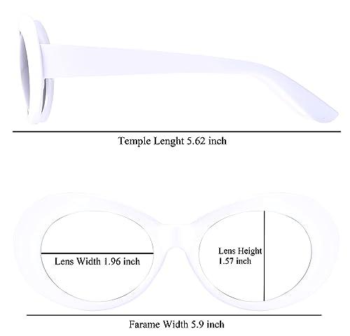 Amazon.com: Gafas de sol estilo retro ovaladas con marco ...