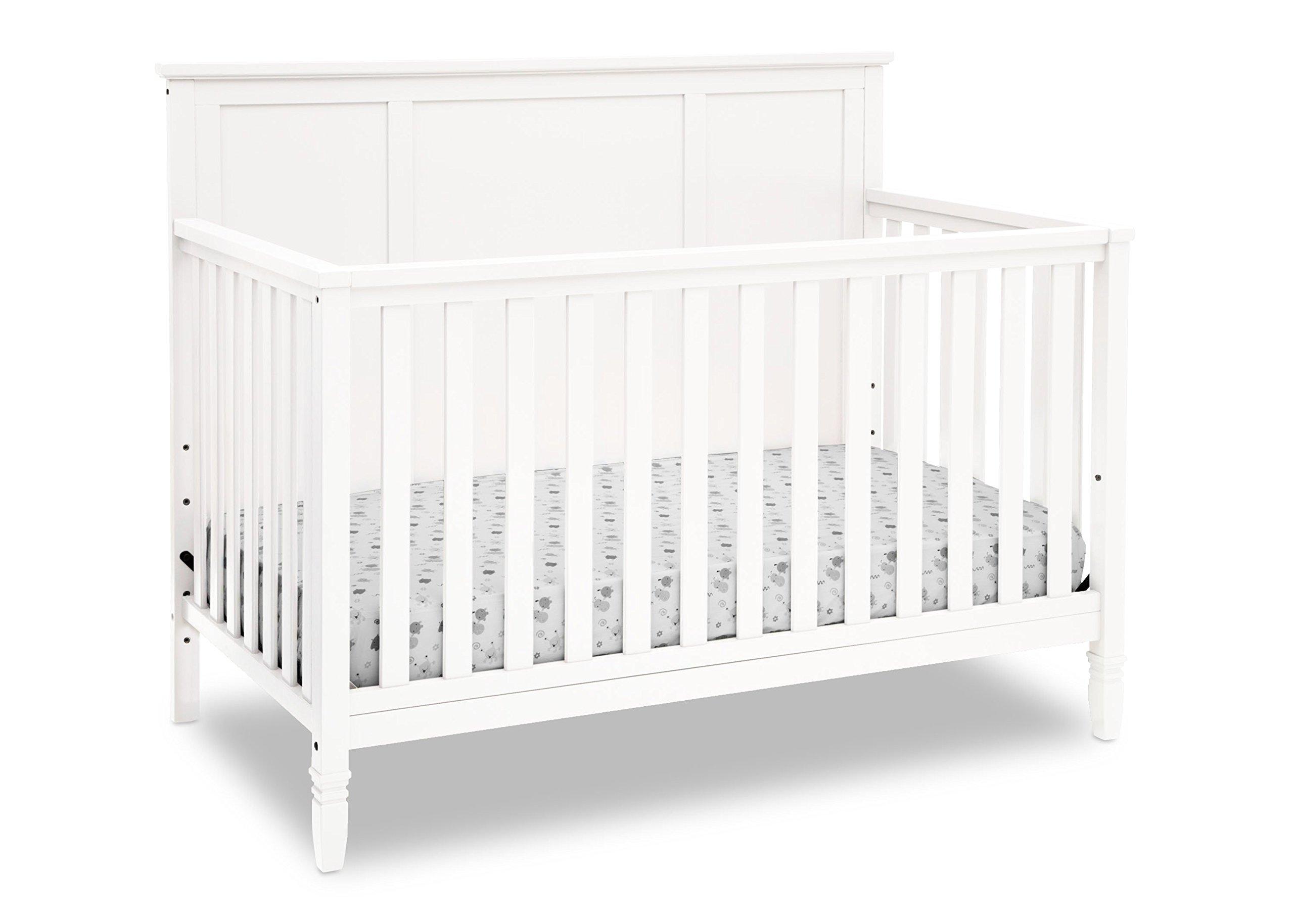 Delta Children Easton 4-in-1 Convertible Crib, White