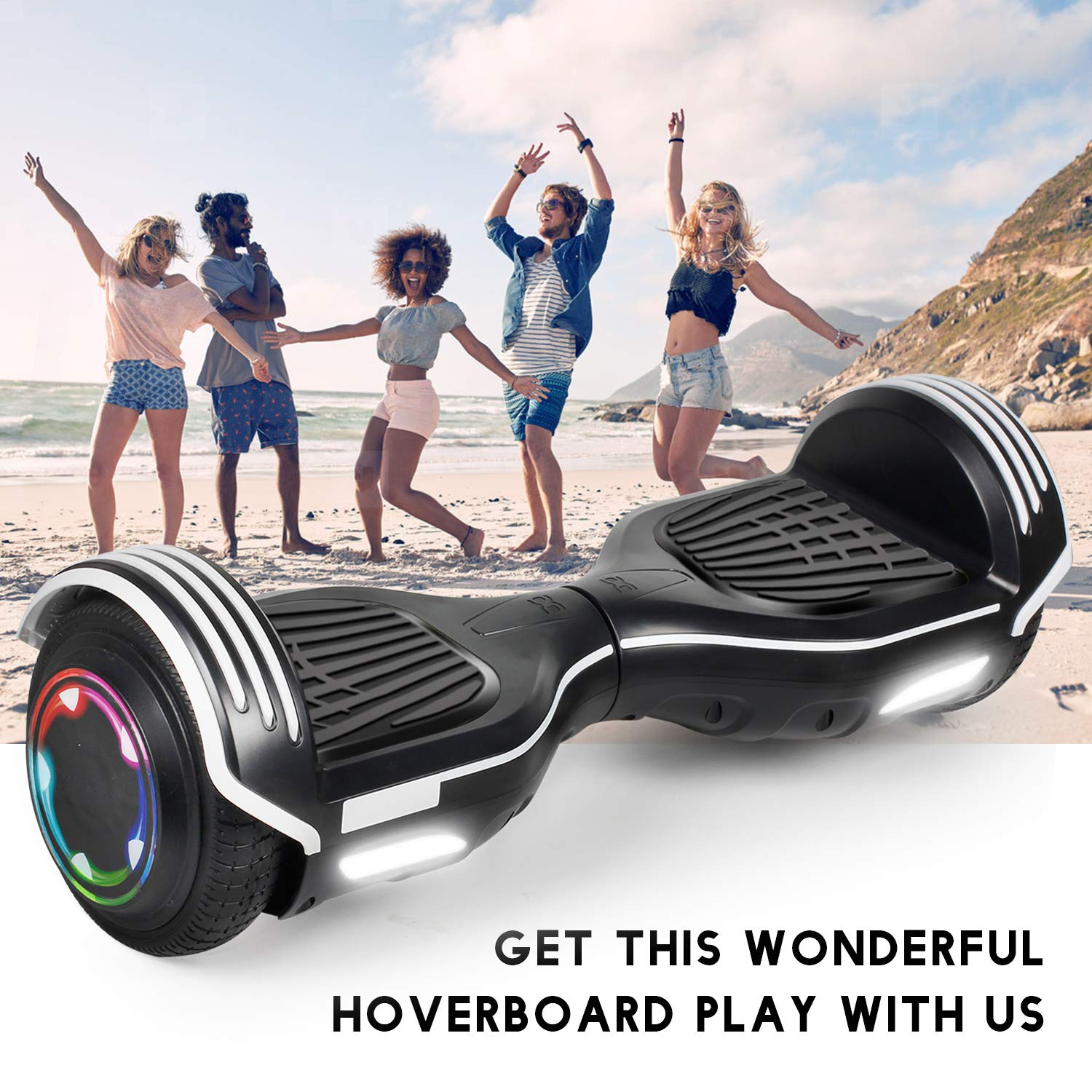 SISIGAD Hoverboard Self Balancing Scooter 6.5